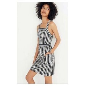 Madewell Striped Apron Style Mini Dress BackButton